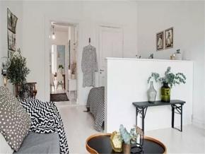 现代北欧风格一室装修效果图