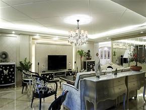 新古典風格客廳墻紙效果圖