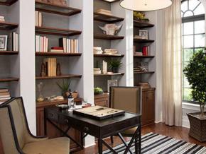經典時尚美式風格書房設計裝修效果圖