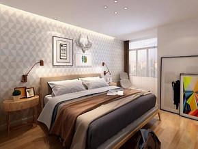日式风格卧室背景装修效果图