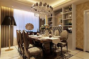 欧式风格四居室餐厅酒柜效果图