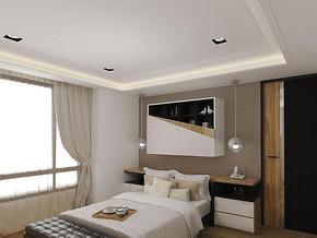 现代简约风格卧室吊顶装修效果图