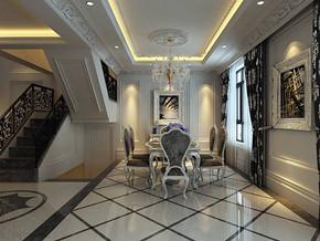 新古典风格餐厅效果图