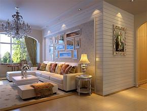 簡歐小型客廳裝修效果圖