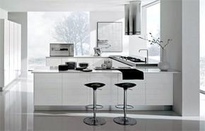 简约风格别墅开放式厨房装修效果图