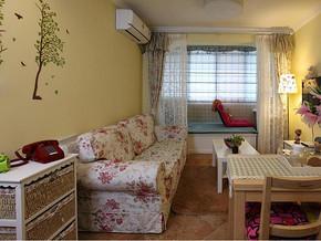 田园风格客厅沙发背景装修效果图