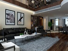 現代風格小戶型客廳電視背景裝修效果圖