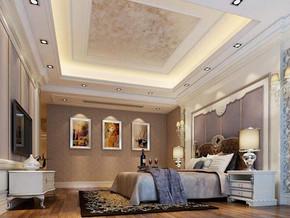 欧式卧室吊顶灯饰装修效果图