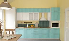 现代风格粉蓝橱柜装修效果图