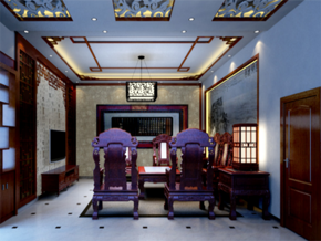 中式客厅家装效果图