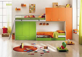 現代風格雙胞胎臥室裝修效果圖