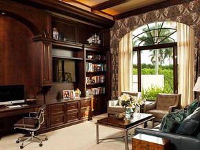 美式风格书房设计装修效果图