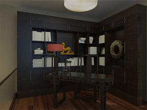现代中式书房书柜装修效果图