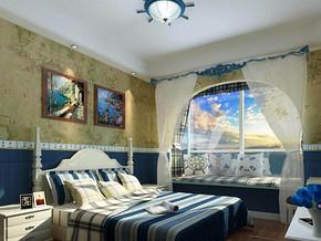 地中海風格臥室裝修效果圖