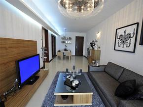 现代简约风黑白客厅装修图片