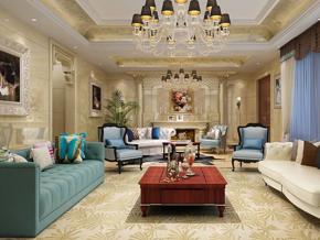 贵气奢华欧式客厅装修效果图