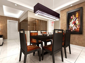 现代家居餐厅吊顶设计效果图
