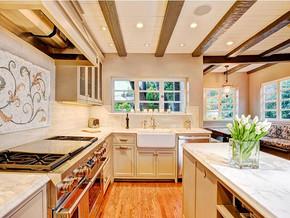 欧式别墅厨房装修效果图