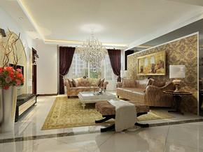 簡歐客廳家裝設計效果圖