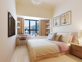 现代简约风格三室两厅效果图