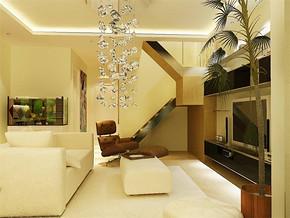 現代簡約樓房客廳裝修圖片