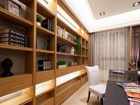 日式風格書房書柜裝修效果圖