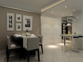 现代风格小户型餐厅装修效果图