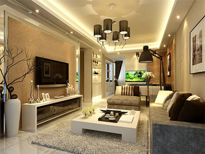 現代風格小戶型客廳裝飾設計片
