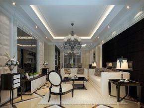 簡歐風格客廳居室設計圖片