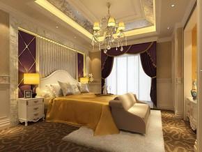 欧式婚房卧室装修设计效果图