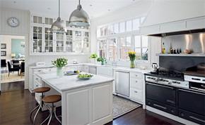 現代簡約風格開放式廚房裝修效果圖