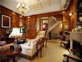 古典英式客厅装修效果图