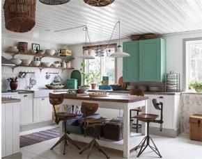 北欧简约风格开放式厨房装修效果图