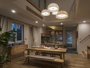 日式风格餐厅吊灯装修效果图