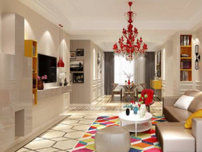 简单温馨现代客厅装修效果图