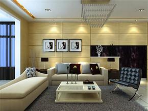 現代簡約風格小戶型客廳簡單吊頂效果圖