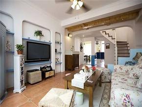 地中海風格小戶型客廳裝修圖片