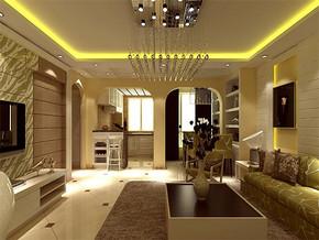 现代风格家庭室内客厅装修效果图