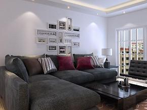 简约风格客厅照片背景墙装修效果图