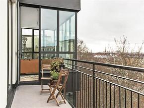 北欧风格公寓阳台布置图