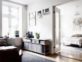 北欧客厅连接卧室装修效果图
