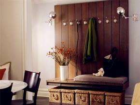 美式风格优雅原木色玄关装修效果图