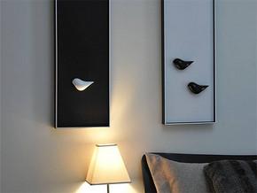 現代風格臥室床頭裝修圖片