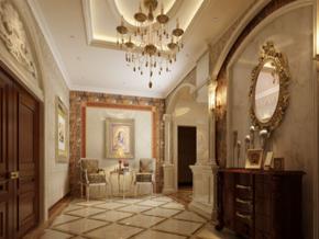 歐式奢華風格客廳玄關裝修效果圖
