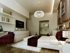 现代风格卧室吊灯装修效果图