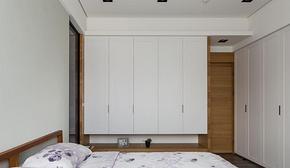 簡約風格臥室白色衣柜裝修效果圖