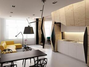 日式風格客廳餐廳吊頂吊燈裝修效果圖