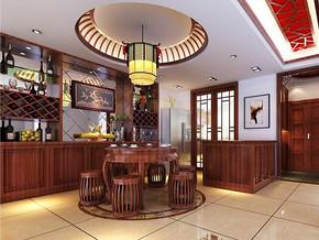 中式風格餐廳吊頂裝修效果圖