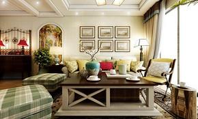 两室两厅田园风格效果图