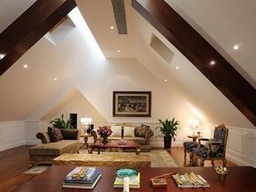 歐式風格客廳吊頂裝修設計效果圖